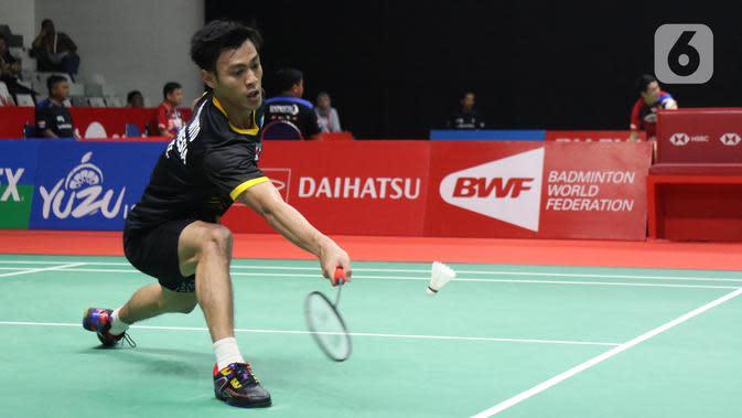 Pebulutangkis Indonesia, Shesar Hiren Rhustavito. (Liputan6.com/Helmi Fithriansyah)