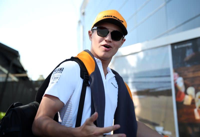 Norris drives an F3 car ahead of F1 return