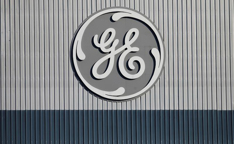 The logo of U.S. conglomerate General Electric is pictured at the company's site of its energy branch in Belfort, France, February 5, 2019. REUTERS/Vincent Kessler