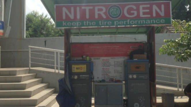 Mesin pengisian nitrogen.