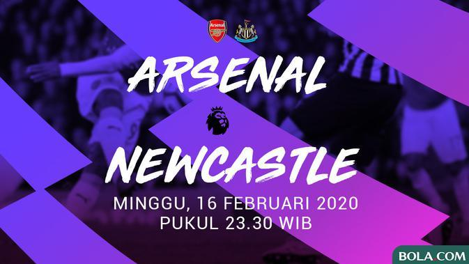Premier League - Arsenal Vs Newcastle United (Bola.com/Adreanus Titus)