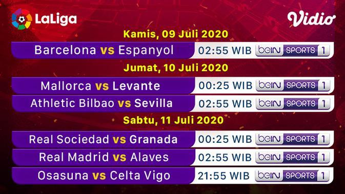 Link Live Streaming La Liga Malam Ini di Vidio: Athletic Club Vs Sevilla