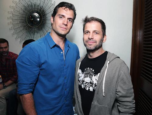 Henry Cavill and director Zack Snyder attend the Superman 75th anniversary party on Day 3 of 2013 Comic-Con International Convention on Friday, July 19, 2103 in San Diego. (Photo by Eric Charbonneau/Invision/AP)