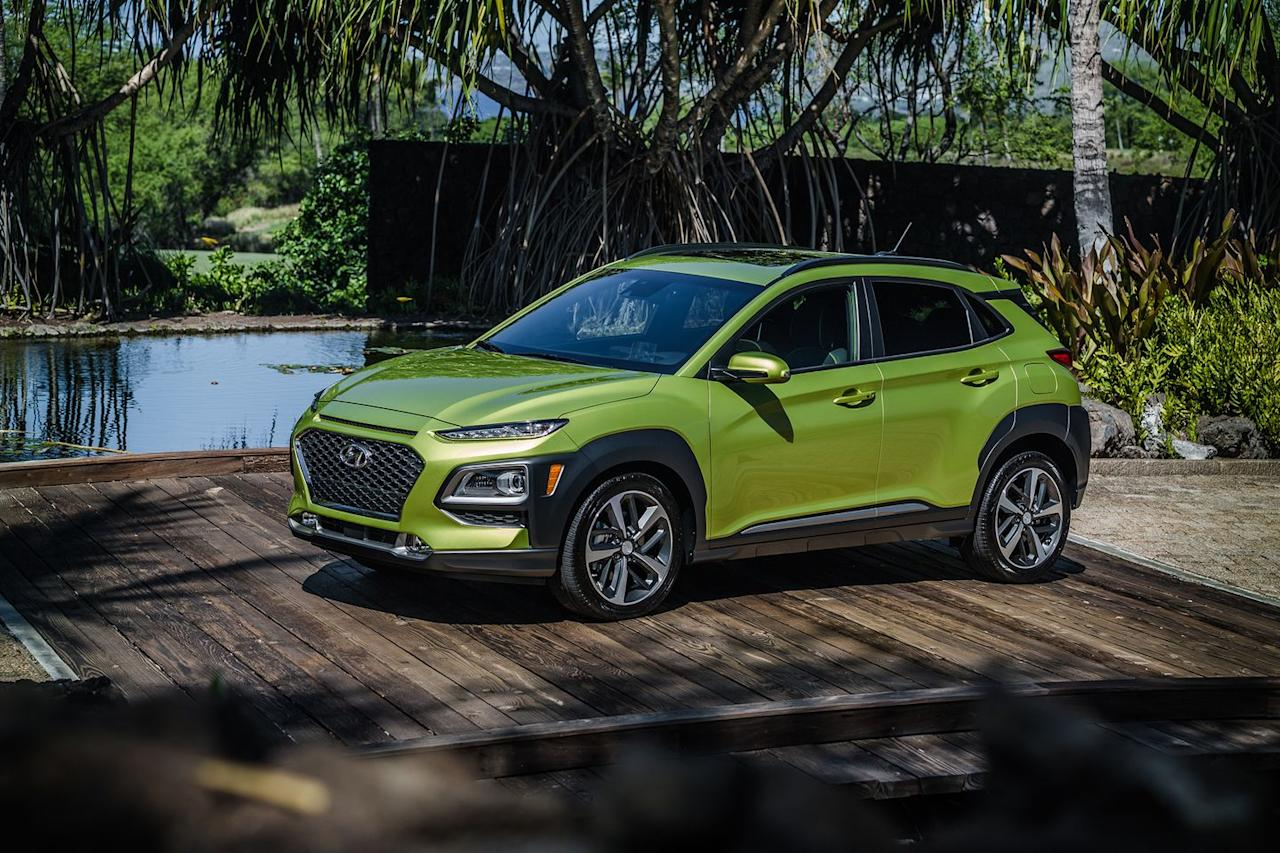 """<p>The subcompact <a href=""""https://www.caranddriver.com/hyundai/kona"""" target=""""_blank"""">2020 Kona</a> is the whole package: Striking looks, engaging driving dynamics, and a comfortable cabin. A pair of four-cylinder engines are available, the best of which is the turbocharged 1.6-liter that provides brisk acceleration and good fuel economy. Its exterior turns heads, even two years after its introduction, but its cabin is more muted and feels grownup in both its design and execution. Cargo space will be adequate for most buyers but those seeking space for bulky items may be better served by one of the Kona's slightly larger rivals. </p><p><a class=""""body-btn-link"""" href=""""https://www.caranddriver.com/hyundai/kona"""" target=""""_blank"""">Review, Pricing, and Specs</a></p>"""