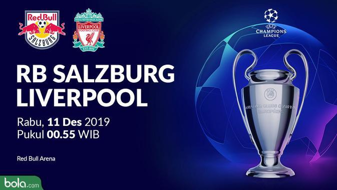 Tekuk Salzburg 2-0, Liverpool Lolos ke Babak 16 Besar Liga Champions