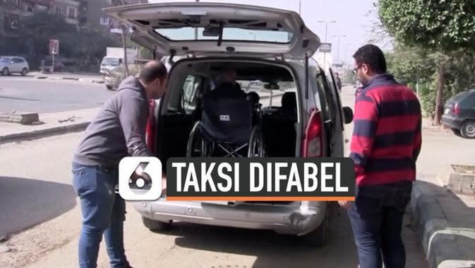 VIDEO: Taksi Ramah Difabel Beroperasi di Kairo