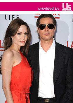 Angelina Jolie Sizzles in Sheer, Red-Hot Gown