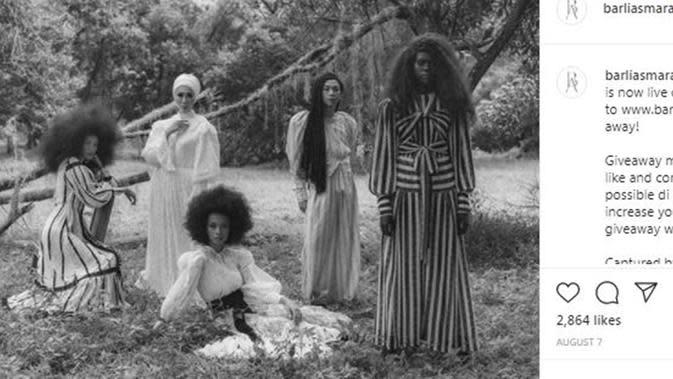 Unchained, koleksi terakhir persembahan Barli Asmara. (dok. Instagram @barliasmara/https://www.instagram.com/p/CDkg7ben3IK/)