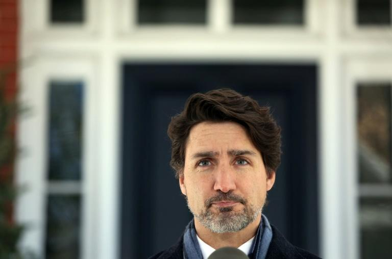 Canadian Prime Minister Justin Trudeau is seen in Ottawa in April 2020