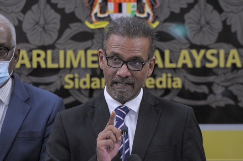 Bukit Gelugor MP Ramkarpal Singh says MACC can investigate as much as it wants, but is barred from pursuing a charge against Lim, as this is expressly prohibited by the Federal Constitution. — Picture by Shafwan Zaidon