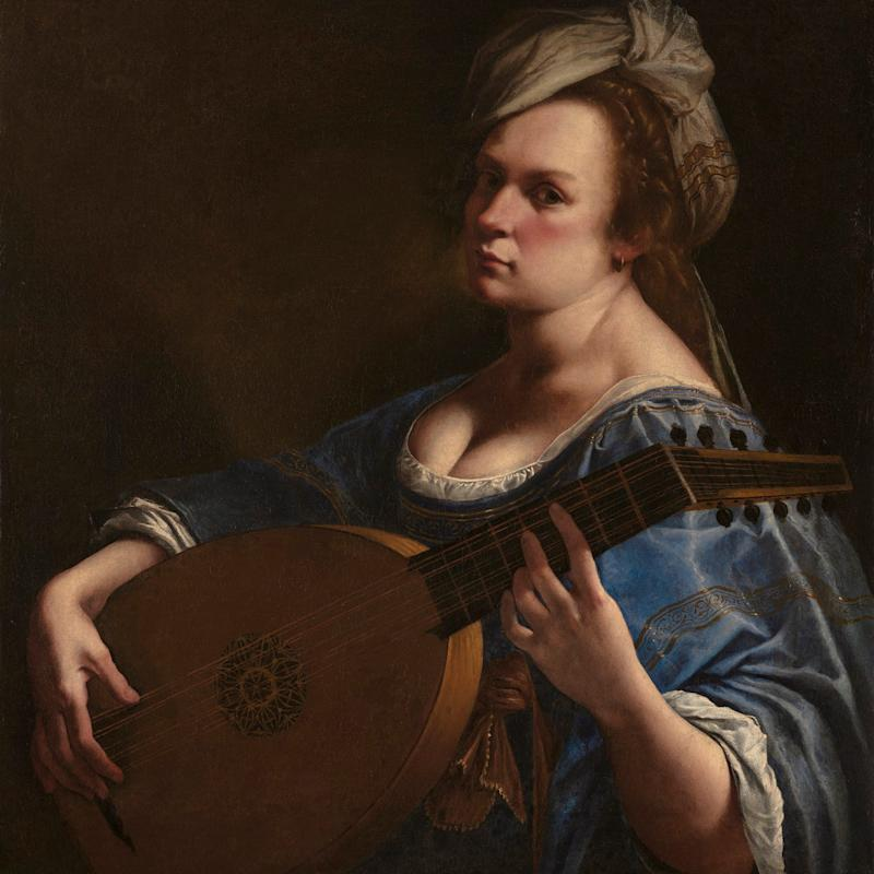 Self-portrait as a lute player, oil on canvas - Wadsworth Atheneum Museum of Art