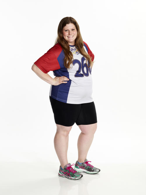 "This image released by NBC shows Rachel Frederickson, a contestant on ""The Biggest Loser."" Fredrickson lost nearly 60 percent of her body weight to win the latest season of ""The Biggest Loser"" and pocket $250,000. A day after her grand unveiling on NBC, she faced a firestorm of criticism in social media from people who said she went too far. (AP Photo/NBC, Paul Drinkwater)"