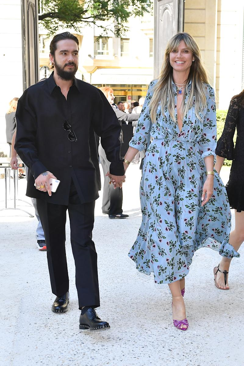 Heidi Klum and Tom Kaulitz attend the Valentino Haute Couture Fall/Winter 2019 2020 show as part of Paris Fashion Week on July 03, 2019