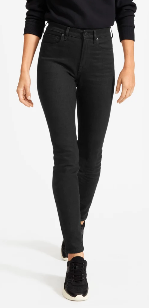 Everlane High-Rise Skinny Jean in Black