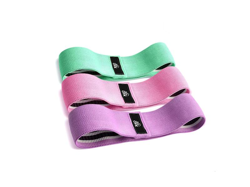 Aid your workout with a set of resistance bands to improve flexibility, balance and muscle strengthAmazon