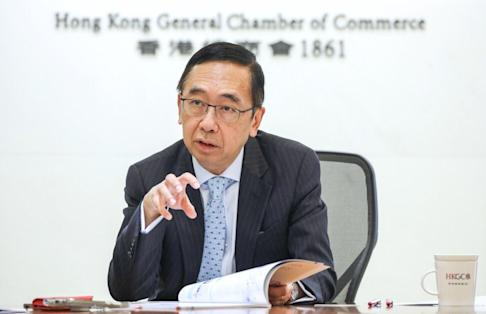 George Leung Siu-kay, Chief Executive Officer of The Hong Kong General Chamber of Commerce (HKGCC), on 22 June 2020. Photo: Nora Tam