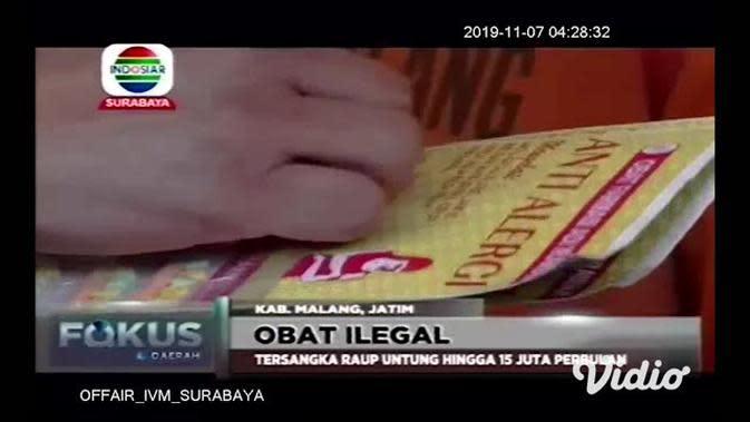 VIDEO: Polres Malang Tangkap Komplotan Pembuat dan Pengedar Obat Ilegal