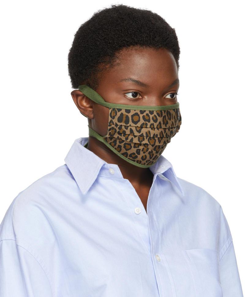 R13 Tan & Green Surplus Leopard Mask