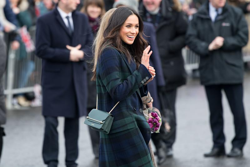 Prince Harry and Meghan Markle during the visit to Edinburgh Castle and the attendance of the 13 o�clock gunfire in Edinburgh, UK. (Photo by DPPA/Sipa USA)
