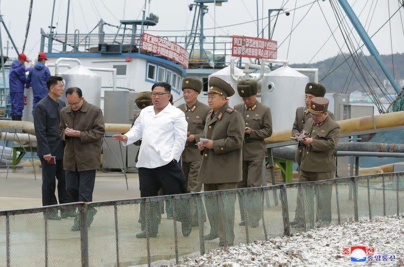 Pemimpin Korut Kim dorong ekonomi dengan kunjungi lokasi perikanan