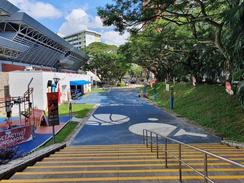 Clementi Sports Centre multi-purpose court. (PHOTO: Sport Singapore)
