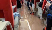 台鐵普悠瑪車廂遭控漏水+積水 原因竟是馬桶水管爆裂