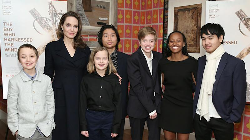 Angelina Jolie says children Knox Jolie-Pitt, Vivienne Jolie-Pitt, Pax Thien Jolie-Pitt, Shiloh Jolie-Pitt, Zahara Jolie-Pitt and Maddox Jolie-Pitt got her through her tough times. Photo: Getty Images