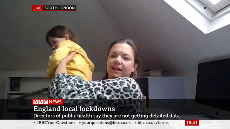 Dr Wenham saw her live TV interview interrupted by her daughter Scarlett. (PA Images)