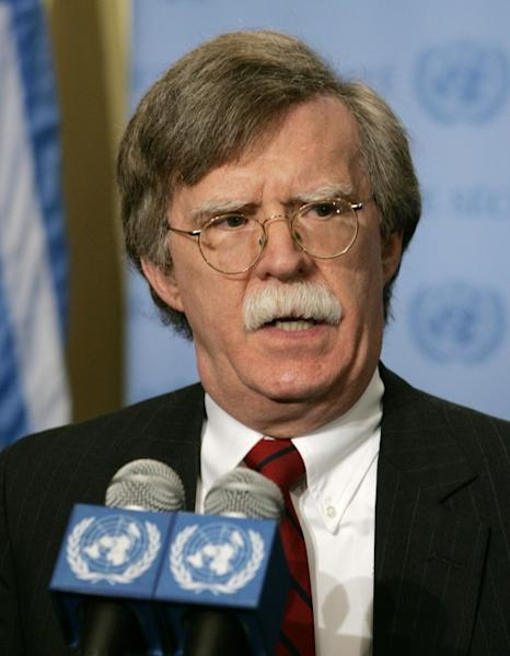 John Bolton, then US ambassador to the United Nations, speaks to the media in 2006