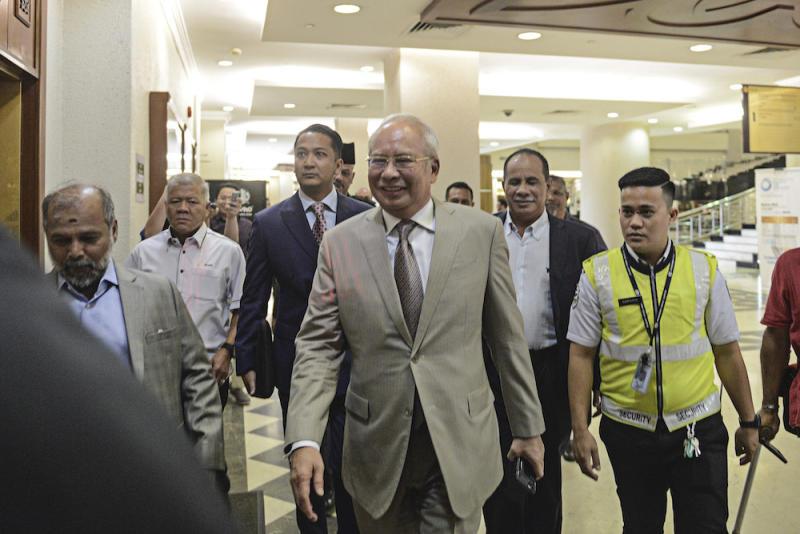 Datuk Seri Najib Razak arrives at the Kuala Lumpur Court Complex, February 24, 2020. ― Picture by Shafwan Zaidon