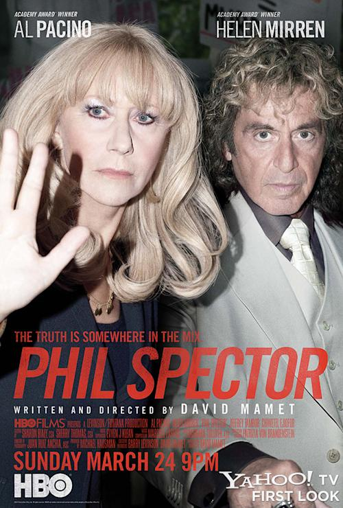 Get an exclusive first look at the poster for HBO's 'Phil Spector'