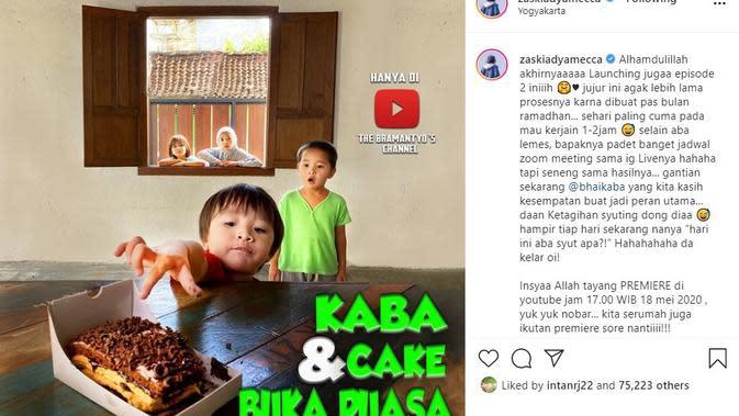 Anak-anak Zaskia Adya Mecca dan Hanung Bramantyo (Foto: Instagram/@zaskiaadyamecca)