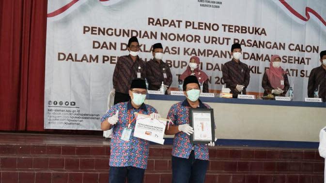 Danang Wicaksana Sulistya - Raden Agus Choliq Dapat Nomor Urut 1 di Pilkada Sleman