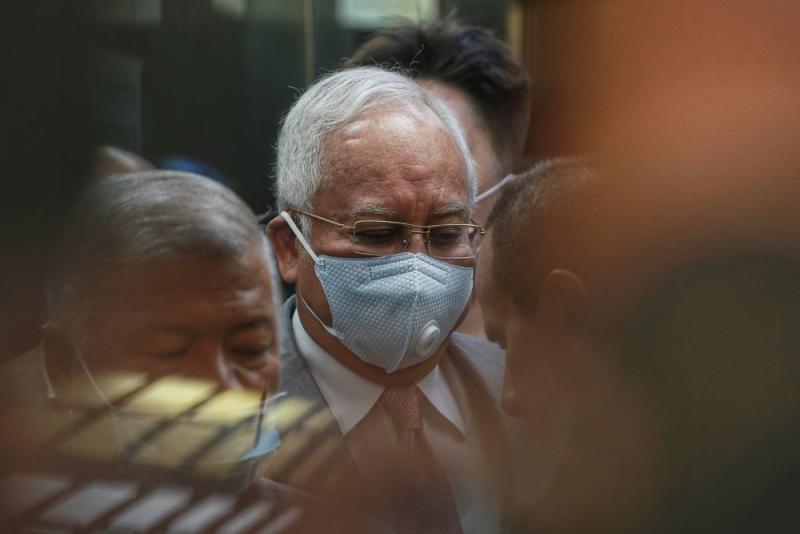 Datuk Seri Najib Razak is pictured at the Kuala Lumpur High Court on September 3, 2020. ― Picture by Ahmad Zamzahuri