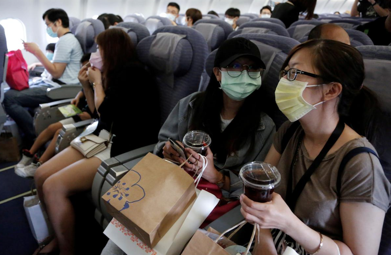 The fake flights provided a chance for Songshan Airport to showcase its health and safety protocols to provide reassurance and confidence to passengers once air travel takes off again. — Reuters pic
