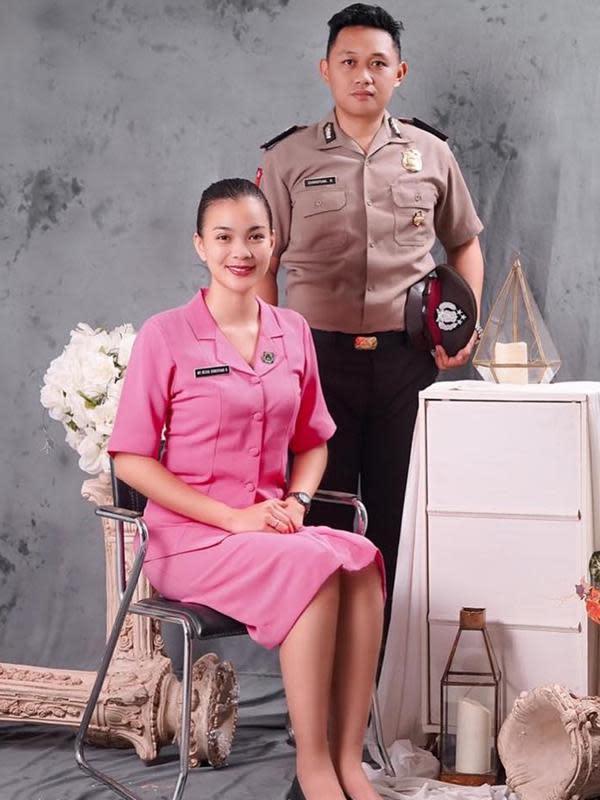 Deretan artis cantik yang menikah dengan polisi, harmonis dan romantis. (Sumber: Instagram /@christianrantepadang)