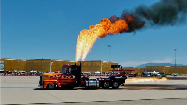 Flame-throwing, 12,000-hp jet-powered semi yours for just $75,000