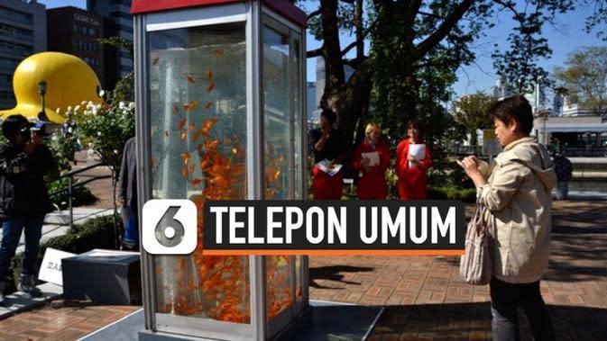 VIDEO: Telepon Umum Bekas Diubah Jadi Aquarium di Osaka