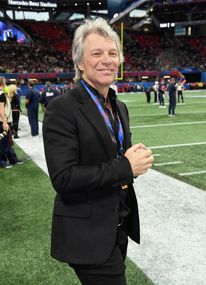 <p><span>Jon Bon Jovi attended the Super Bowl LIII pregame. Photo: Getty Images</span> </p>