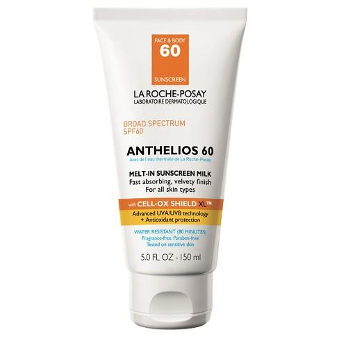 <p>The sunscreen contains avobenzone, which researchers have found to be more successful at blocking harmful rays than mineral sunscreens containing ingredients like zinc oxide. It also has the antioxidant, Baicalin, to fight free radicals on the surface of the skin while offering the highest UVA and UVB sun protection. Photo: Target </p>