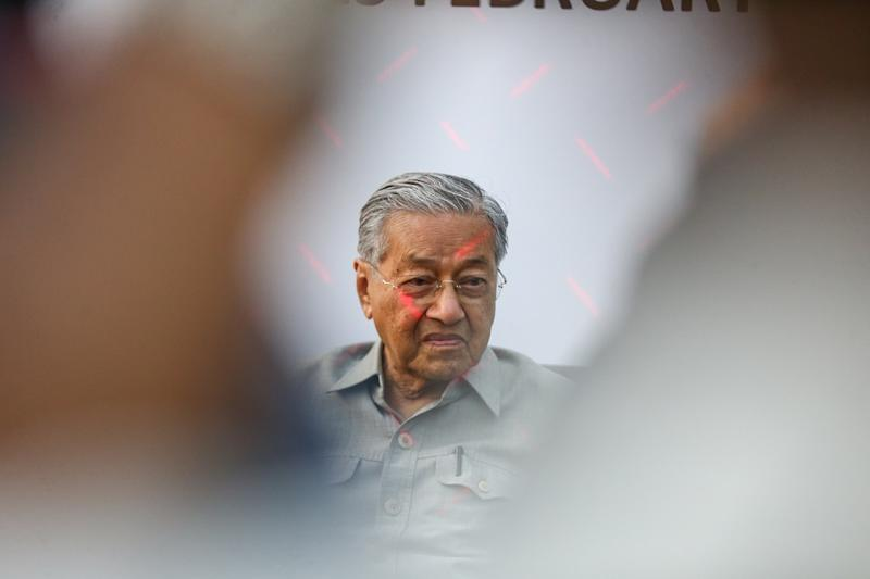Dr Mahathir said anyone could be fluent in any language if they opted to use a teaching system whereby teaching materials are prepared in various forms of medium by an expert. — Picture by Ahmad Zamzahuri