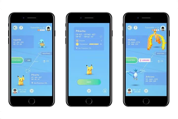 pokemon go update trading