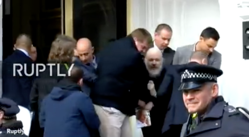 WikiLeaks founder Julian Assange was arrested by British police on Thursday after they were invited into the Ecuadorian embassy. Source: RUPTLY