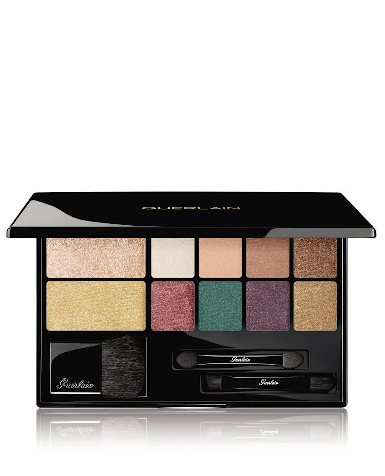 "<p>Rock that sparkle and shimmer this festive season with these highlighters and shadows. <a rel=""nofollow"" href=""https://www.sephora.com.au/products/guerlain-electric-eyes-highlighter-plus-eyeshadow-palette-limited-edition-2018/v/default?gclid=EAIaIQobChMIwdD2h_-H3wIV1wcqCh1ZyAr4EAYYASABEgKAKPD_BwE&dxid=6837b66a-aef3-1543988964&dxgaid=XY-5a4656afddfe638b8"">Sephora, $116.00</a> </p>"