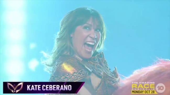 Kate Ceberano was revealed to be the lady beneath the Lion. Photo: Ten