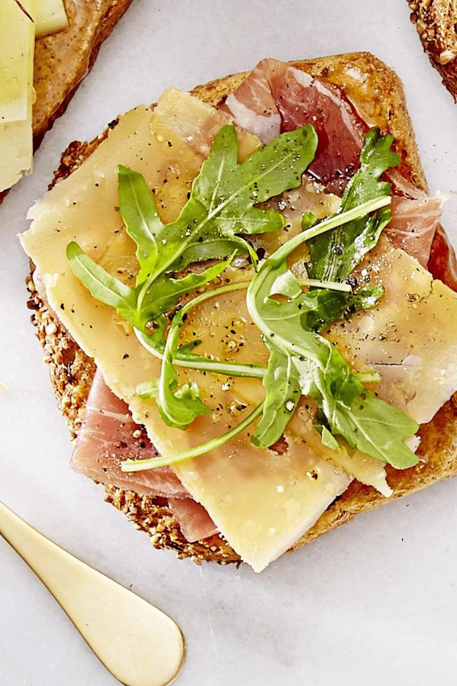 """<p>Brunch just got a whole lot tastier with this toast topped with sweet fig jam, salty Serrano ham and fresh arugula.</p><p><a href=""""https://www.goodhousekeeping.com/food-recipes/easy/a36680/fig-ham-tapas-toast/"""" target=""""_blank""""><em>Get the recipe for Fig & Ham Tapas Toast »</em></a><br></p><p> <strong>RELATED: </strong><a href=""""https://www.goodhousekeeping.com/food-recipes/g4201/best-brunch-recipes/"""" target=""""_blank"""">55 Sweet and Savory Brunch Recipes to Make This Weekend</a></p>"""