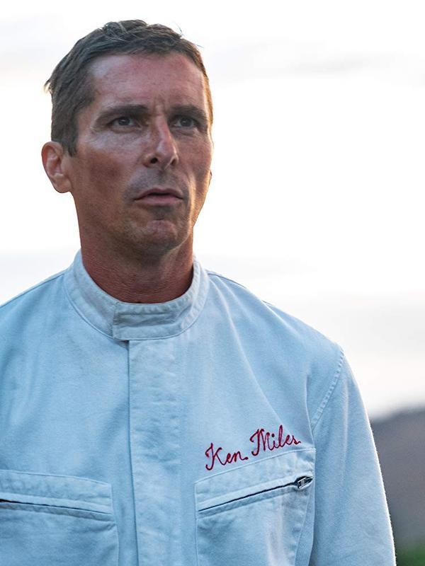Christian Bale di lokasi syuting Ford V Ferrari. (Merrick Morton - © 20th Century Fox)