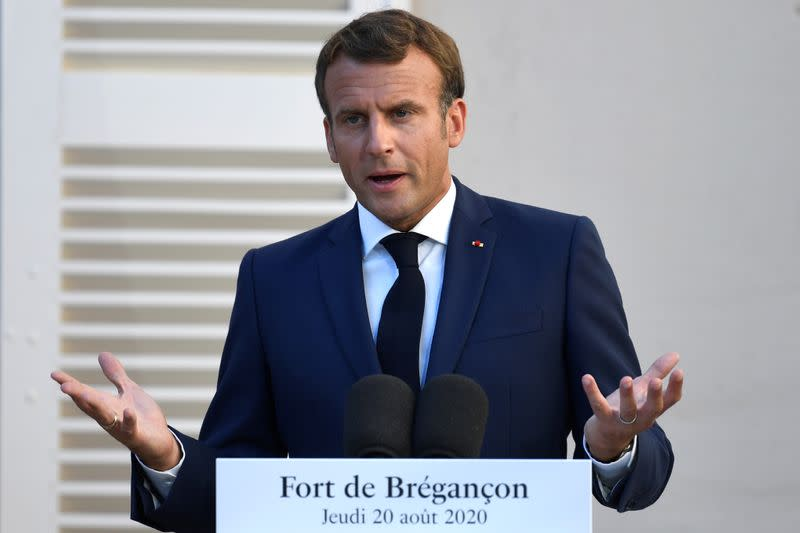 France's Macron says Russian intervention in Belarus would not be welcome
