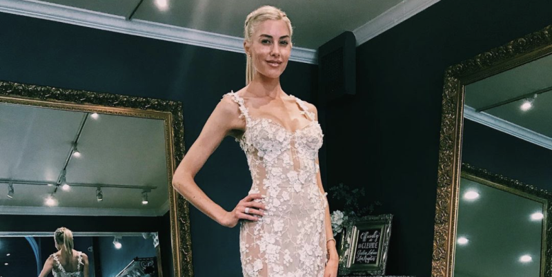 Heather Rae Young Shares a Behind-The-Scenes Wedding Dress Shopping Photo