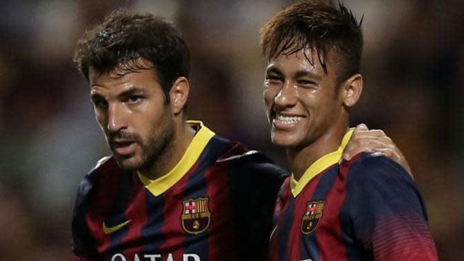 Cesc Fabregas dan Neymar.